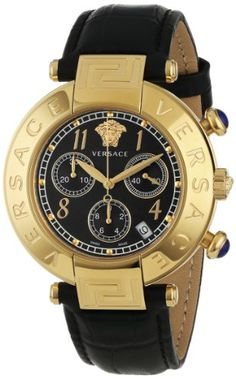 Versace Women's Q5C70D009 S009 New Reve Yellow Gold Ion-Plated Stainless Steel Chronograph Date Watch