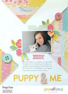 """Layout """"Puppy & Me"""" (Con un poco de Washi...)"""