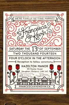 Wedding Invites by Kevin Moran