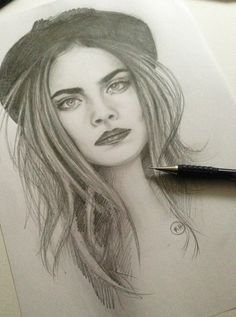 cara delevingne drawing - Google Search