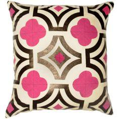 quatrefoil decorative pillow