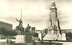 Antigua imagen de Plaza España MADRID (Espinillo)