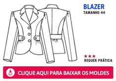 "Manequim free blazer download - size 44 (See Manequim size chart on my ""Sewing Reference Board"" or at http://theperfectnose.files.wordpress.com/2012/03/manequim_0001.jpg"