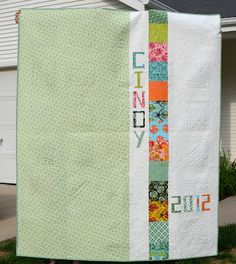 Hyacinth Quilt Designs  Ohhh such a fun quilt back!!