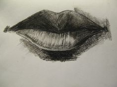 #drawing #carbon #lips