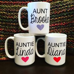 Personalized Aunt or Auntie Mug. Pregnancy by embeemugs on Etsy