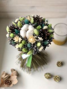 Dried Flower Bouquet, Dried Flowers, Paper Flowers, Cotton Bouquet, Flower Decorations, Table Decorations, Fantasy Wedding, How To Preserve Flowers, Flower Basket