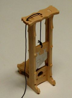 Guillotine / model kit by PeToy on Etsy. Can be used as novelty cigar cutter. Woodworking At Home, Halloween Buckets, Haunted Dollhouse, Good Whiskey, Medieval Weapons, Great Christmas Gifts, Holiday, New Things To Learn, Woodworking
