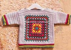 Crochet baby sweater granny square ideas for 2019 Crochet Toddler Sweater, Crochet Baby Sweaters, Crochet Baby Clothes, Crochet For Kids, Baby Knitting, Crochet Cross, Knit Crochet, Crochet Cardigan, Baby Patterns