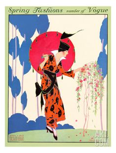 Vogue Cover - April 1914 Regular Giclee Print by Helen Dryden at Art.com