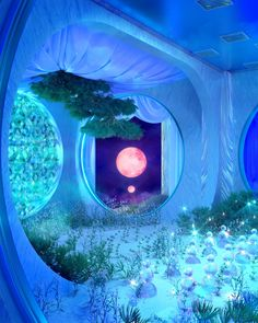 Aesthetic Space, Blue Aesthetic, Fantasy Art Landscapes, Fantasy Landscape, Fantasy Places, Fantasy World, Aesthetic Backgrounds, Aesthetic Wallpapers, Colorfull Wallpaper