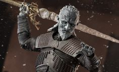 Game of Thrones White Walker Sixth Scale Figure by Threezero Game Of Thrones 1, Game Of Thrones Series, Bride Of Chucky Doll, Game Of Thrones Collectibles, Kojima Productions, Animated Halloween Props, Toy Story Figures, Trick Or Treat Studios, Night King