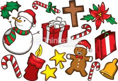 Arte vectorial : Set of colorful christmas object