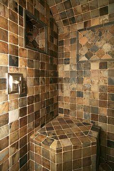 The master bath shower.