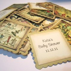 Vintage Inspired Children Storybook Tags or Baby Shower Tags Series 1 | adorebynat - Paper/Books on ArtFire