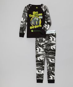 Take a look at this Black Camo 'Big Tractors' Pajama Set - Infant, Toddler & Boys by John Deere on #zulily today!