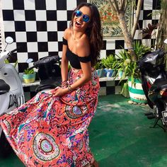 We love this Bali-inspired outfit on Shay Mitchell! | Pretty Little Liars