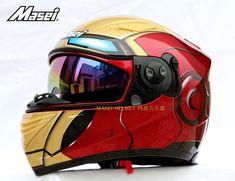 Free shipping M star light helmet MASEI IRONMAN iron man 830 full face red motorcycle helmet - Motor Kappenset
