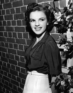 Judy Garland- I wish we dressed like this and wore our hair like this.  My grandmother did!