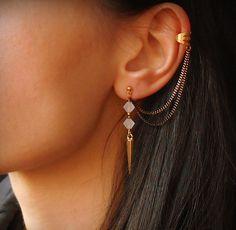 Spike ear cuff earrings Earcuff earrings by Maleena09 on Etsy