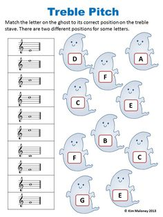 24 HALLOWEEN Themed Music Worksheets! 1. Names of Notes and Rests (4 worksheets but TWO versions. One set using North American terminology and the other using British Terminology) 2. Treble Pitch 3. Bass Pitch 4. Alto Pitch 5. Music Signs and Symbol $