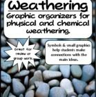 WEATHERING  EROSION GRAPHIC ORGANIZERS - A easy to follow set of graphic organizers complete with symbols to help students remember key ideas....