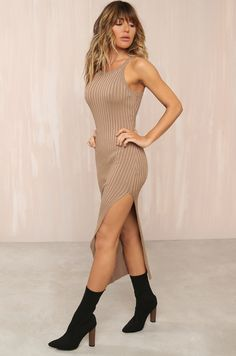 Distraction Dress - Tan Fashion Heels, Fashion Forward, Clothes For Women, Hair Ideas, Dresses, Style, Clothing, In Trend, Outerwear Women