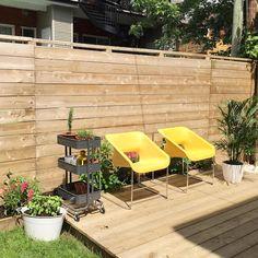 My backyard makeover // Ma cour : AVANT/APRÈS   À la mode Montréal