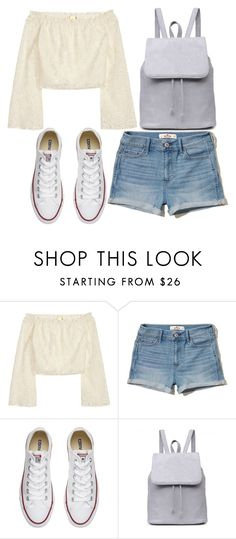 """Untitled #390"" by cristin-1 ❤ liked on Polyvore featuring H&M, Hollister Co. and Converse"
