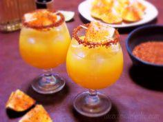 La Cocina de Leslie: Orange Margaritas con Limon y Chile {She Made/Ella Hace}