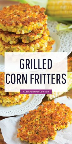 Grilled Corn Fritters Fresh Summer Corn No Egg Corn Fritters is part of Corn fritter recipes Grilled corn fritters are a great way to use your extra summer corn! These little cakes are so easy to - Corn Fritter Recipes, Veggie Recipes, Vegetarian Recipes, Healthy Recipes, Recipe For Corn Fritters, Corn Fritters Healthy, Fresh Corn Recipes, Vegetarian Grilling, Healthy Grilling