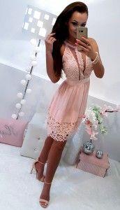 Sukienka różowa ,, Justina''