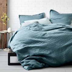 domino Vernon Duvet Cover - Teal   The Company Store®