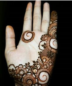 Mehndi Designs For Kids, Indian Henna Designs, Finger Henna Designs, Modern Mehndi Designs, Mehndi Design Pictures, Arabic Mehndi Designs, Bridal Mehndi Designs, Mehandhi Designs, Hena Designs