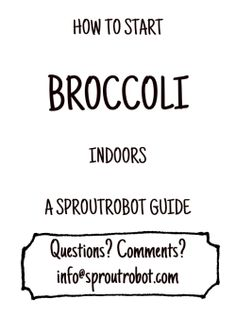 how to start broccoli indoors