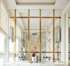 A Paris Apartment's Luxuriously Layered Master Bath featured in AD Interior Architecture: Champeau & Wilde Photo: Ricardo Labougle Diy Bathroom Decor, Bathroom Interior Design, Small Bathroom, Bathroom Ideas, Rental Bathroom, Master Bathroom, Bathroom Marble, Master Baths, Bathroom Plants