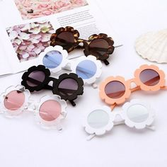 f6bd26dbf637 Cute Lovely Vintage Kids Girl Sunglasses Round Flower Shape Children UV400  Sun  CuteLovelyChina  Round