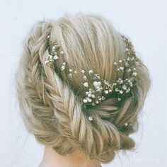 Double fishtail braid bun for wedding. Wouldn't fall out on wedding day.