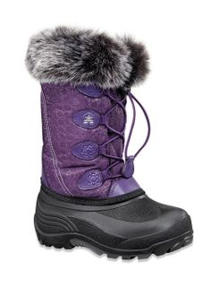 Kamik Boots Snowgypsy (Eggplant) Kids Boots (Sizes 10-7) Kids Snow Boots Footwear