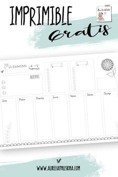 Planning semanal gratis para colorear 2018 Planner, Agenda Planner, Study Planner, Planner Pages, Weekly Planner, Bullet Journal Agenda, Bullet Journal Banner, Bullet Journal Inspo, Bullet Journal Ideas Pages