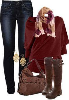 casual fall outfit with drape knit jumper bmodish 2014
