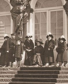 """362 Likes, 1 Comments - Династия Романовых (@historyofromanovs) on Instagram: """"The last Russian imperial family on the steps of the Catherine Palace."""""""