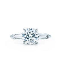 Tiffany & Co.   Engagement Rings   Print   Round Brilliant With Tapered Baguettes