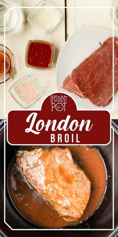 A yummy tender and a juicy meal that keeps you full and happy. Amazing option  for Christmas or any special occasion.    Have guests for dinner? Make this pressure cooker London broil!    I go with the top round for this recipe. Feel free to use skirt meat or chuck roast.