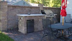 custom kitchen, grill, metal table and chairs, Back Yards, Outdoor Cooking / BBQ, Patio