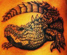 Alligator tattoo, alligator, tattoo,