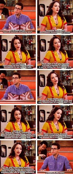 More TV Show Funnies Pics) 2 Broke Girls. I 2 broke girls! Tv Quotes, Movie Quotes, Thats 70 Show, Two Broke Girl, Tv Shows Funny, Tv Funny, Funny Pins, Funny Girl Quotes, New Girl Funny