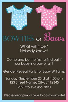 Gender Reveal Party by makeitpersonalforyou on Etsy, $9.75