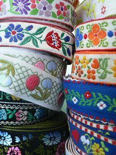 Vintage boho trims and ribbons