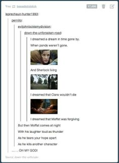 I dreamed a dream, doctor who edition